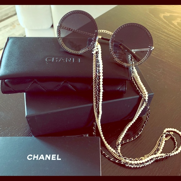 c817c0ebf689 CHANEL Triple Chain Sunglasses - 2019 Collection